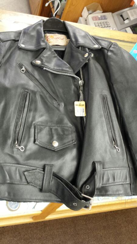 JACKET USED LEATHERS CYCLE-LEATHERS CYCLE-LEATHERS EXECELLED; BLACK LEATHER JACK