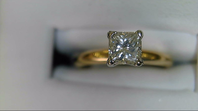 Lady's Diamond Solitaire Ring .40 CT. 14K Yellow Gold 2.1g