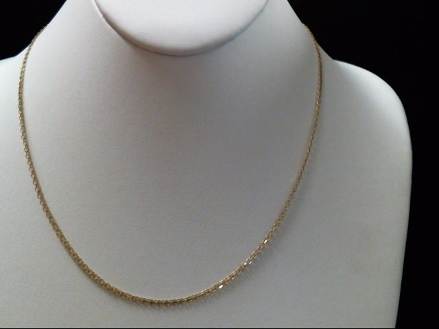 "19"" Gold Fashion Chain 14K Yellow Gold 3.2g"