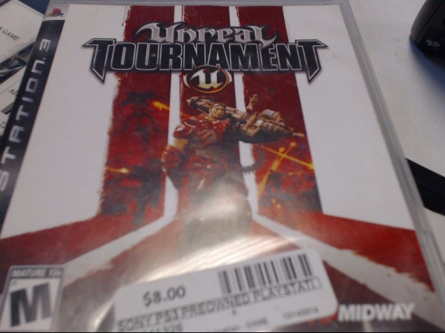 SONY PS3 UNREAL TOURNAMENT
