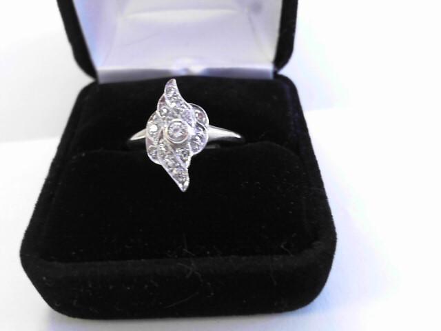 Lady's Diamond Fashion Ring 11 Diamonds .20 Carat T.W. 14K White Gold 2.1dwt