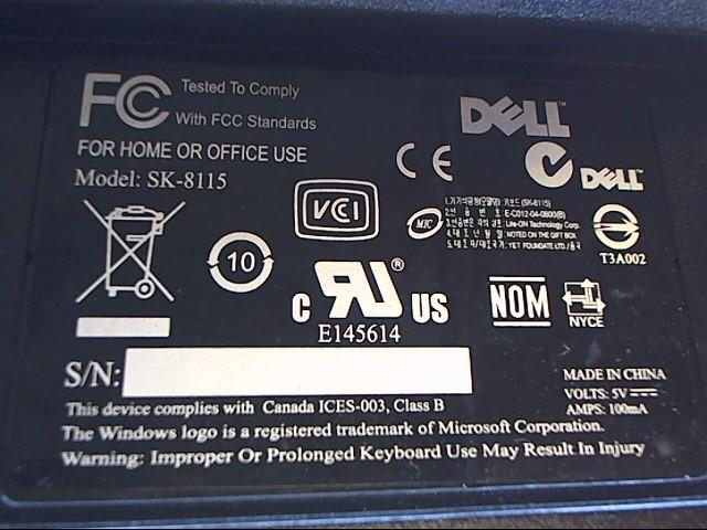 DELL Computer Accessories SK-8115