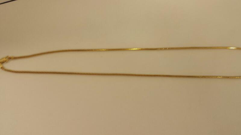 "18"" Gold Serpentine Chain 14K Yellow Gold 1.8dwt"