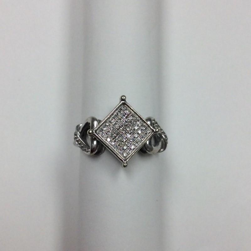 Lady's Diamond Fashion Ring 49 Diamonds .245 Carat T.W. 10K White Gold 1.6dwt