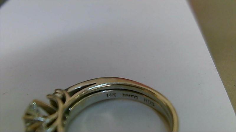 Lady's Diamond Wedding Set 9 Diamonds .57 Carat T.W. 14K White Gold 4g