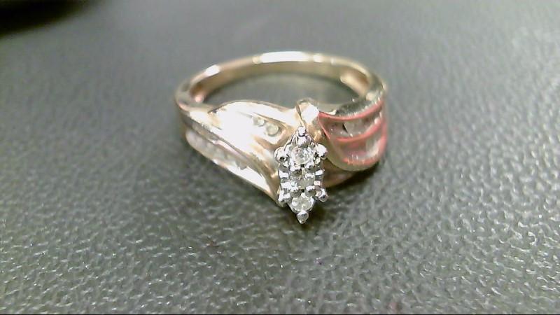 Lady's Diamond Fashion Ring 25 Diamonds .082 Carat T.W. 10K Yellow Gold 3.7g