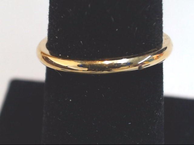 Lady's Gold Wedding Band 18K Yellow Gold 2.2g Size:5.8