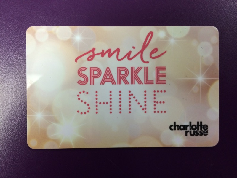 $15.00 Charlotte Russe Gift Card