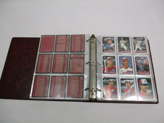 LOT OF 3 BINDERS - BASEBALL CARD COLLECTION 1989 1990 TOPPS 1990 DONRUSS