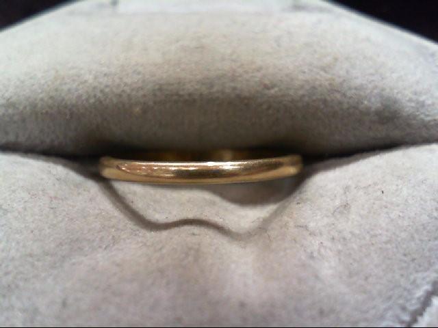 Lady's Gold Wedding Band 14K Yellow Gold 1.3g Size:6.5