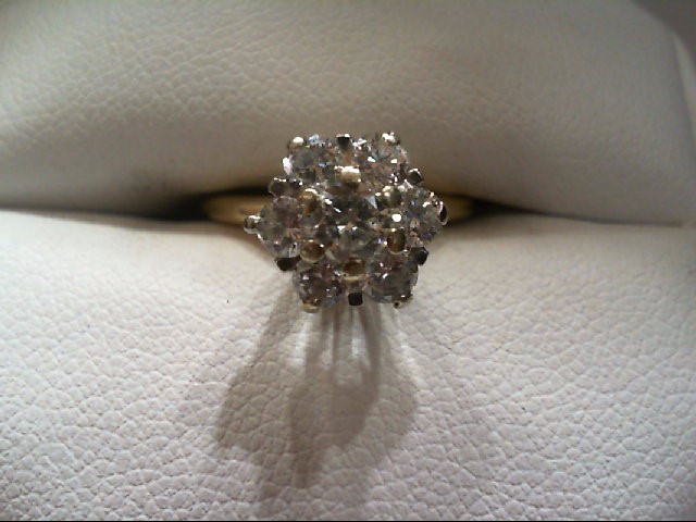 Lady's Diamond Solitaire Ring 7 Diamonds .80 Carat T.W. 14K Yellow Gold 2.9g