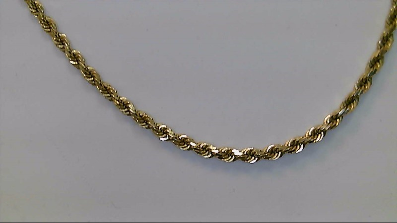Gold Rope Chain 14K Yellow Gold 13.5g