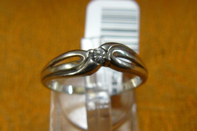 Lady's Diamond Fashion Ring .08 CT. 14K White Gold 1dwt Size:7.5