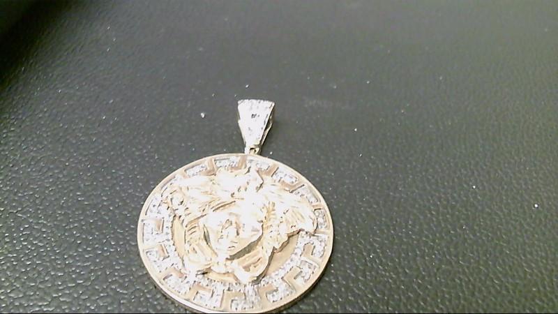 Gold-Multi-Diamond Pendant 122 Diamonds 1.22 Carat T.W. 10K Yellow Gold 6.3g