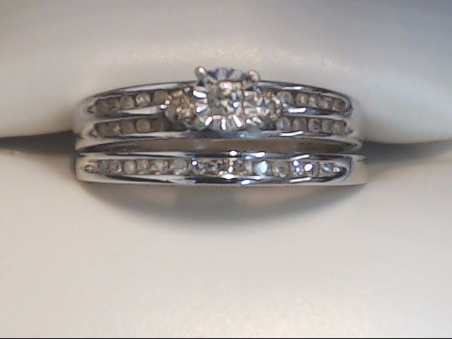 Lady's Diamond Wedding Set 35 Diamonds .35 Carat T.W. 10K White Gold 4.1g