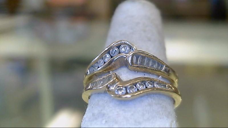 Lady's Gold-Diamond Anniversary Ring 36 Diamonds .36 Carat T.W. 14K Yellow Gold