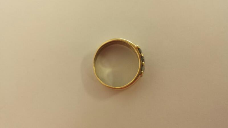 Lady's Diamond Cluster Ring 9 Diamonds .45 Carat T.W. 14K Yellow Gold 2.1dwt