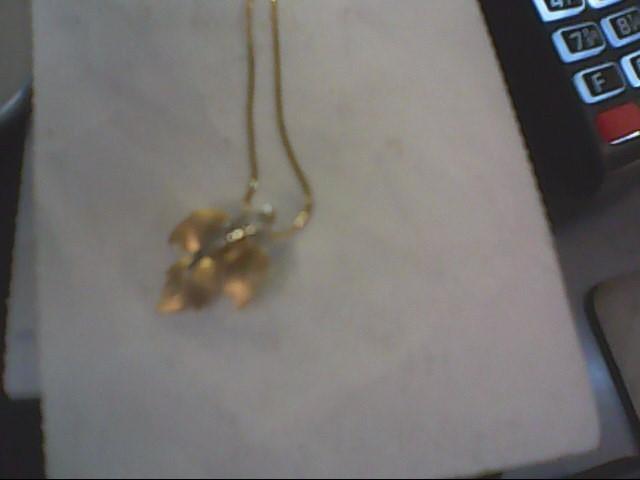 Diamond Necklace .01 CT. 18K 2 Tone Gold 2.1g