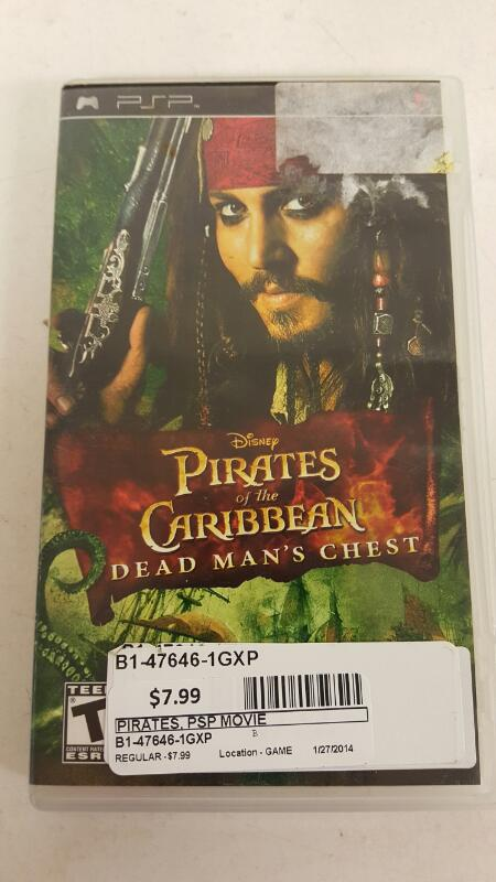 Pirates of the Caribbean (Dead man's chest) PSP--FREE SHIPPING