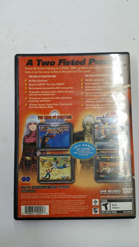 The King of Fighters 2000/2001 for Playstation 2