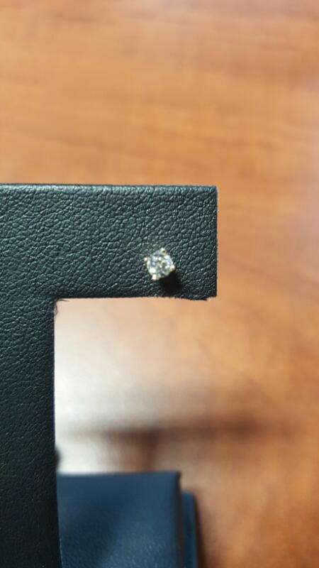 Gold-Diamond Earrings .10 CT. 14K Yellow Gold 0.2dwt