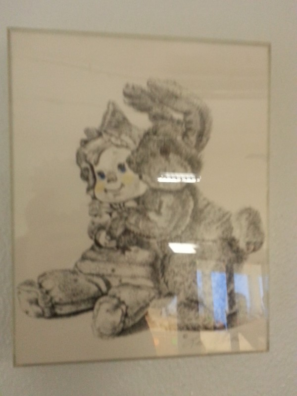 LEE COLLINS SIGNED TOY PRINT