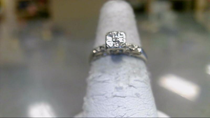 Lady's Diamond Fashion Ring .01 CT. 10K White Gold 1.7g