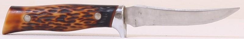 "Vintage Camillus Fixed Blade 8.5"" Hunting Knife & Sheath #1012 USA"