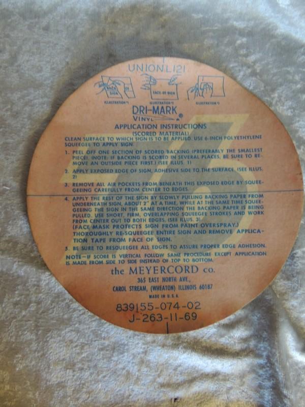 76 Gas Station unused Dri-Mark Vinyl Decal Vintage Decal