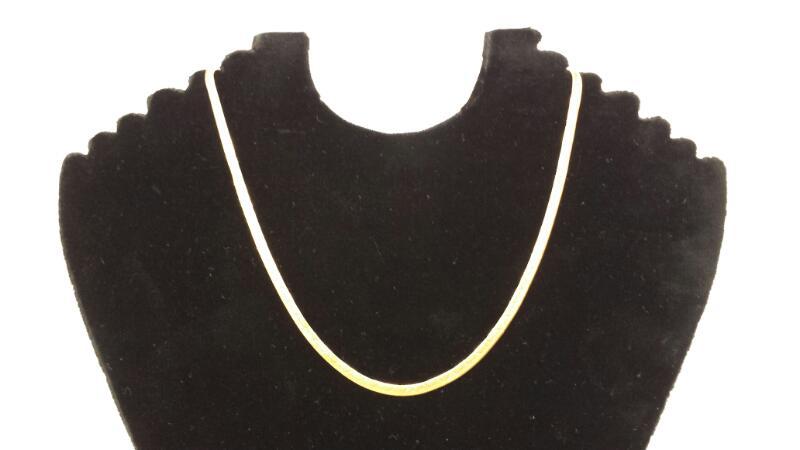 """10k 18"""" Gold Herringbone Chain"""