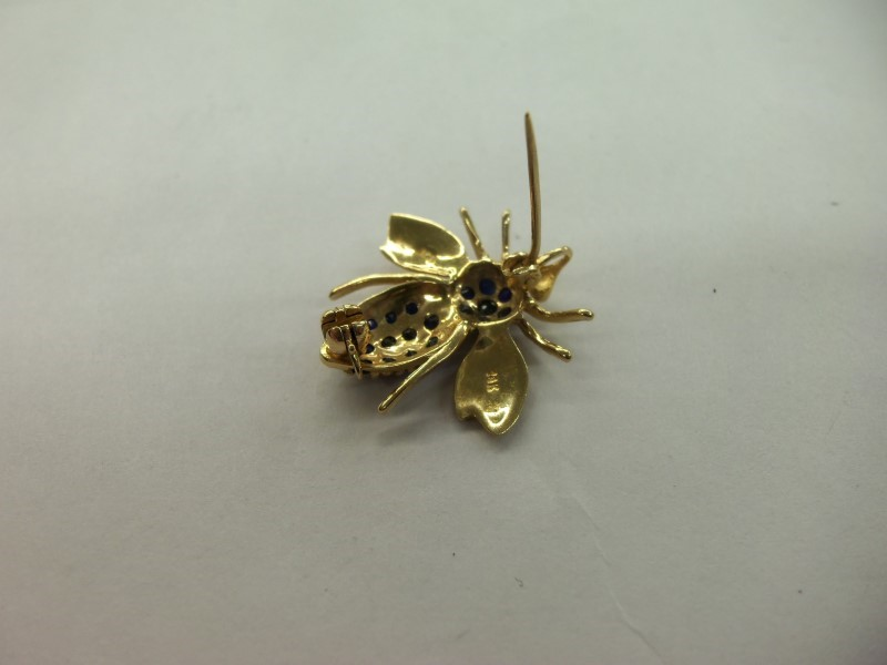 BUMBLE BEE BROOCH PIN 14K