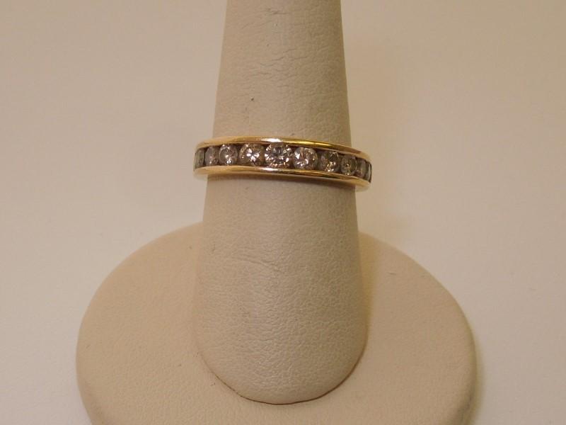 Lady's Diamond Solitaire Ring 11 Diamonds .77 Carat T.W. 10K Yellow Gold 2.6g