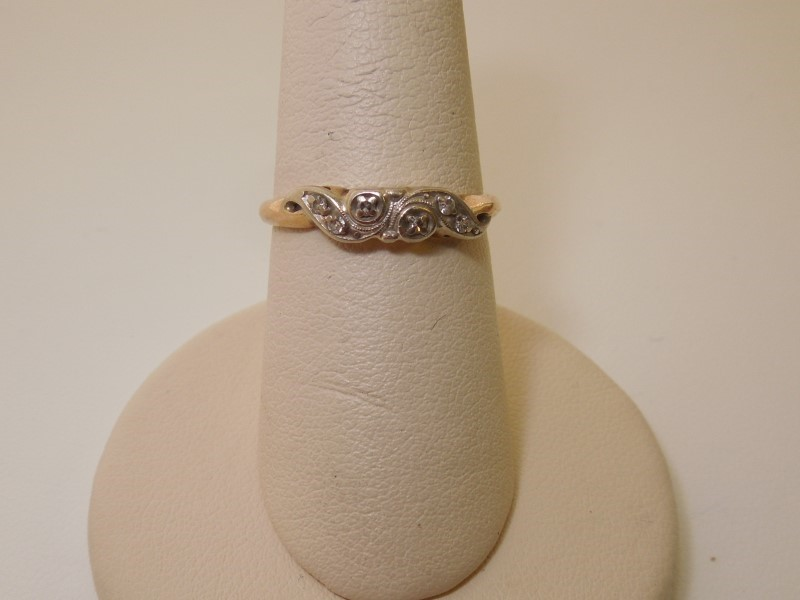 Lady's Diamond Fashion Ring 6 Diamonds .030 Carat T.W. 14K Yellow Gold 1.6g