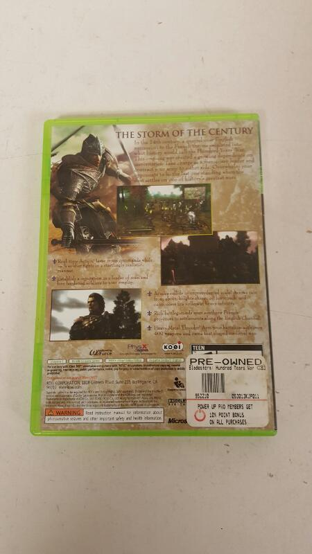 Bladestorm: The Hundred Years' War (Microsoft Xbox 360, 2007) - FREE SHIPPING