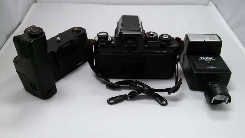 NIKON F3 HP BODY W/  NIKKOR 50MM AND MD-4