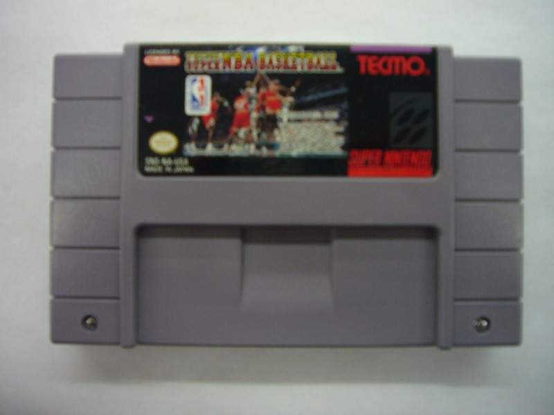 NINTENDO SNES Game TECMO SUPER NBA BASKETBALL *CARTRIDGE ONLY*