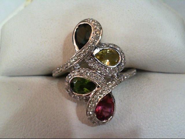 Lady's Diamond/Stone Fashion Rng 64 Diamonds .320 Carat T.W. 14K white Gold 5.1g