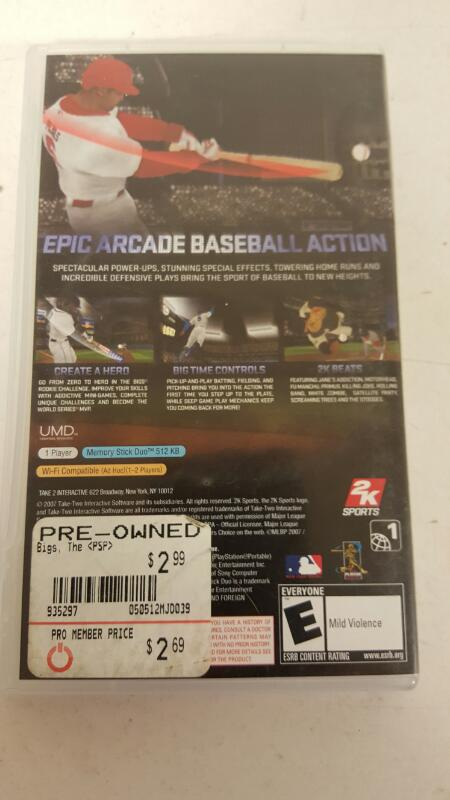 The Bigs for PSP ***FREE SHIPPING****
