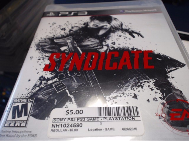 SONY PS3 SYNDICATE