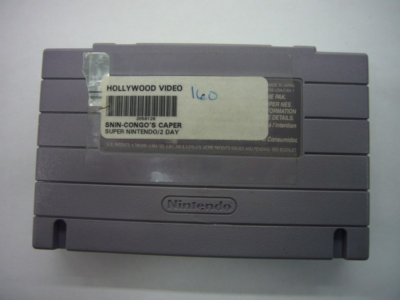 """SNES CONGOS CAPER """"GAME ONLY"""""""