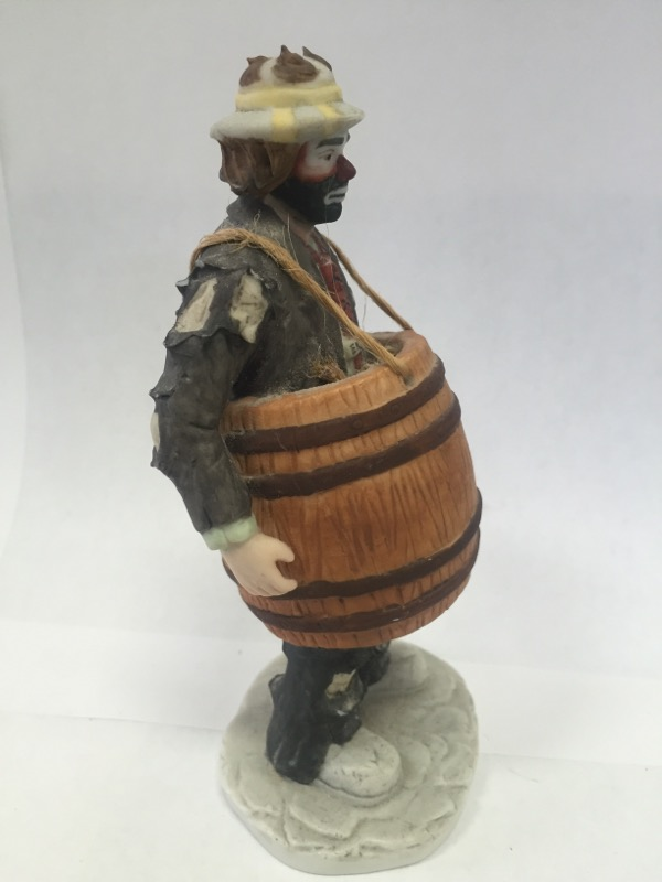 "EMMETT KELLY JR ""OVER A BARREL"" Figurine"