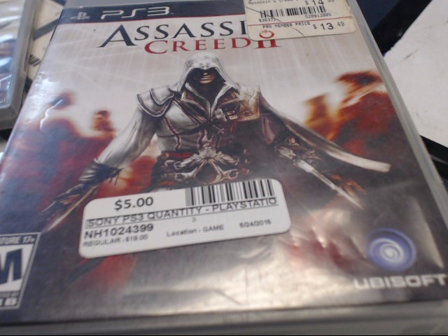 SONY PS3 ASSASSINS CREED II