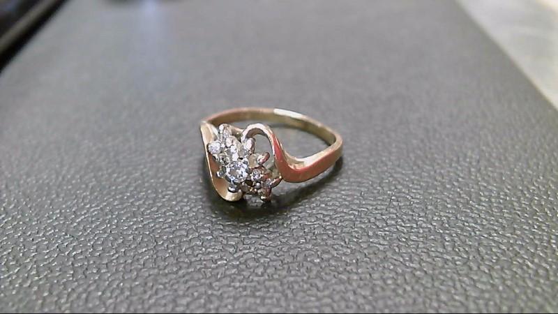 Lady's Diamond Cluster Ring 13 Diamonds .33 Carat T.W. 14K Yellow Gold 2.7g