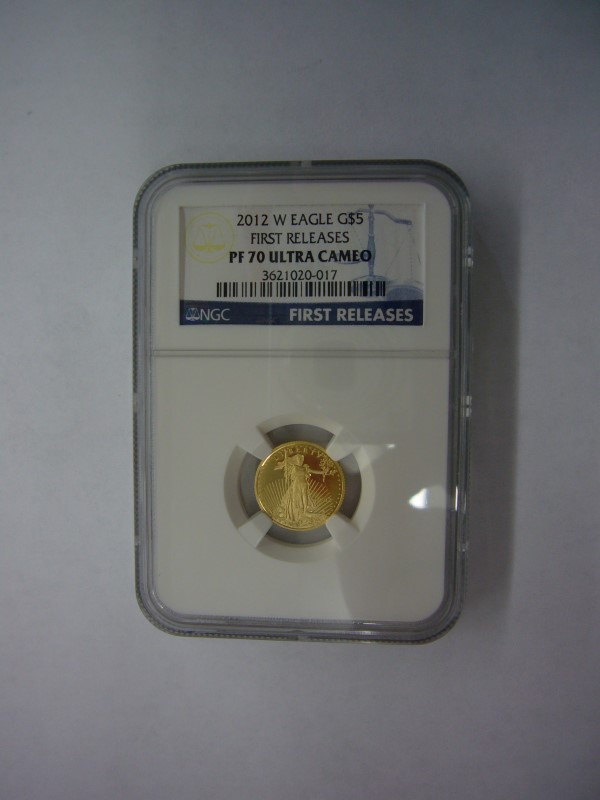 UNITED STATES 2012 W EAGLE G$5 FIRST RELEASES PF 70 ULTRA CAMEO
