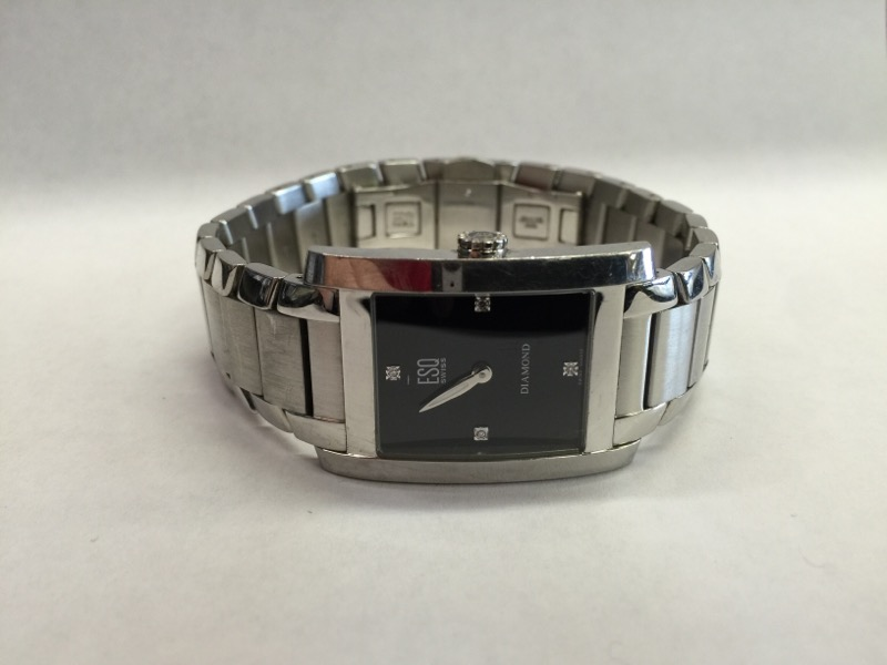 ESQ Gent's Wristwatch E5297 .01 CT. Silver Stainless 78.56dwt