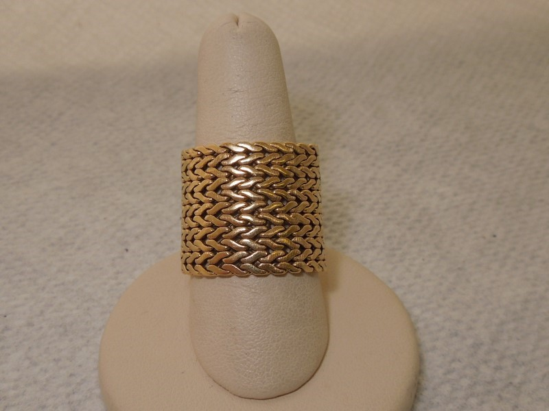 Lady's Gold Ring 14K Yellow Gold 16g Size:10