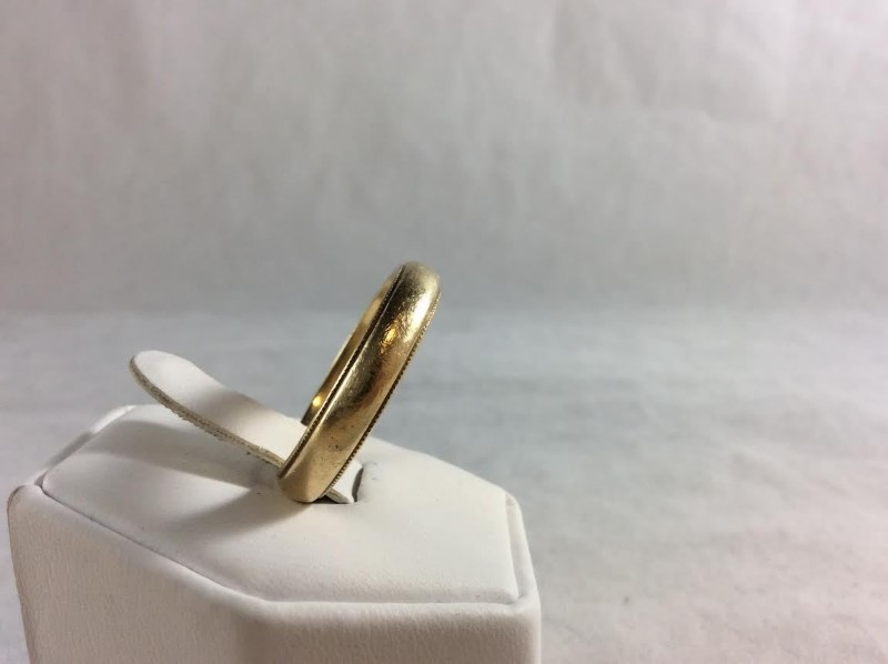 Gent's Gold Wedding Band 14K Yellow Gold 5.21g Size:10