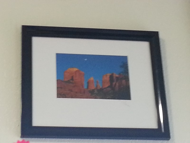 """MOON OVER RED ROCK"" PICTURE"