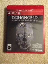 SONY PS3 DISHONORED GAME OF THE YEAR EDITION