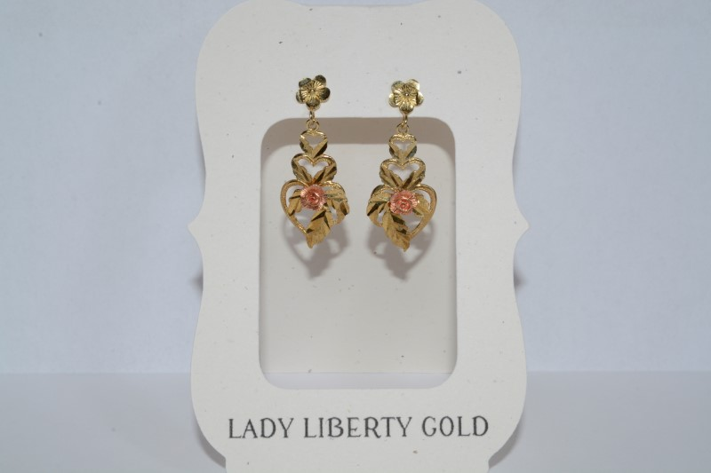 Gold Earrings 10K Yellow Gold 2.4g